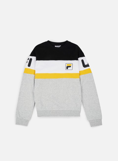 felpe fila dylan crewneck old gold bright white