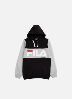 Fila - Edge Hoodie, Black/Light Grey 1