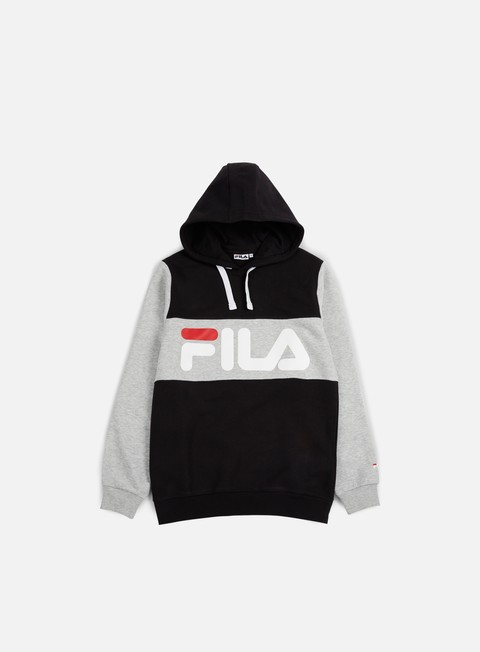 felpe fila edge hoodie black light grey