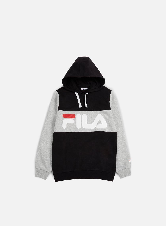 fila hoodie. fila - edge hoodie, black/light grey 1 hoodie
