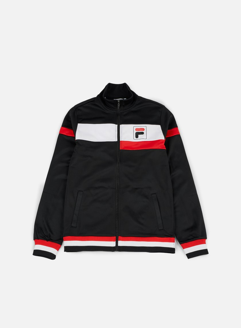 Fila - Ethan Track Jacket, Bright White/Black/High Risk Red
