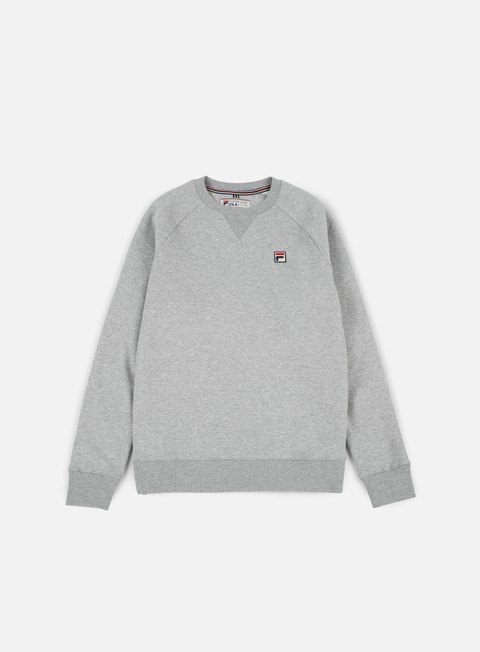 felpe fila filippo crewneck medium grey marl