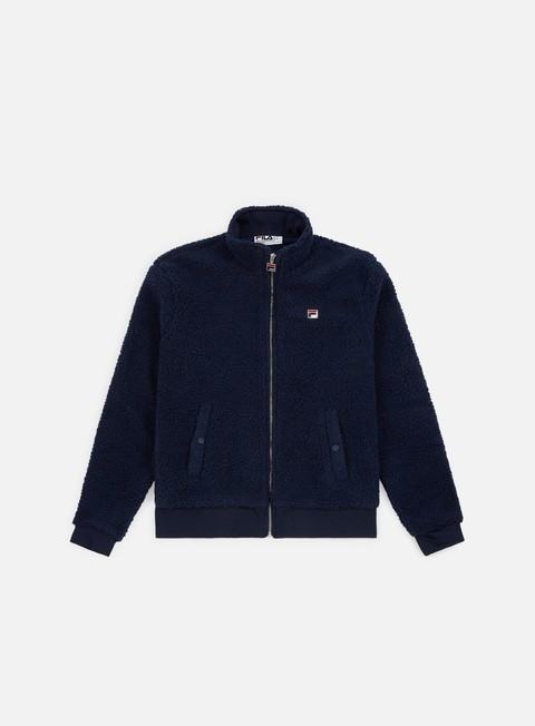 felpe fila finch batwing sherpa zip through fleece peacot