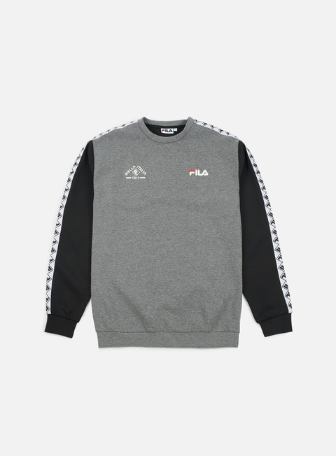 felpe fila grayson crewneck light grey heather