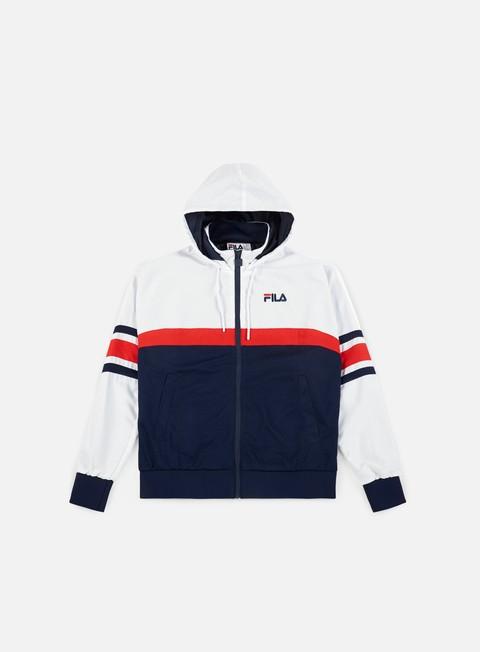 felpe fila hansen half mesh track jacket peacoat red white