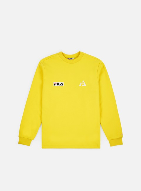 felpe fila huck crewneck vibrant yellow