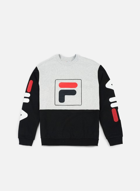 felpe fila jamie crewneck black light grey