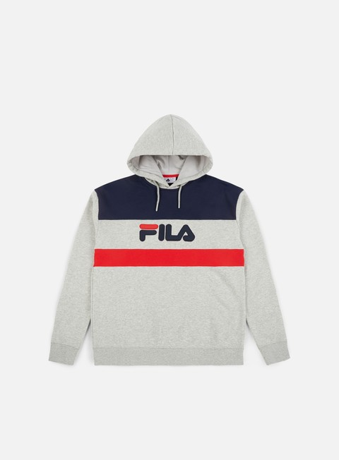 felpe fila jude cut and sew hoodie light grey marl