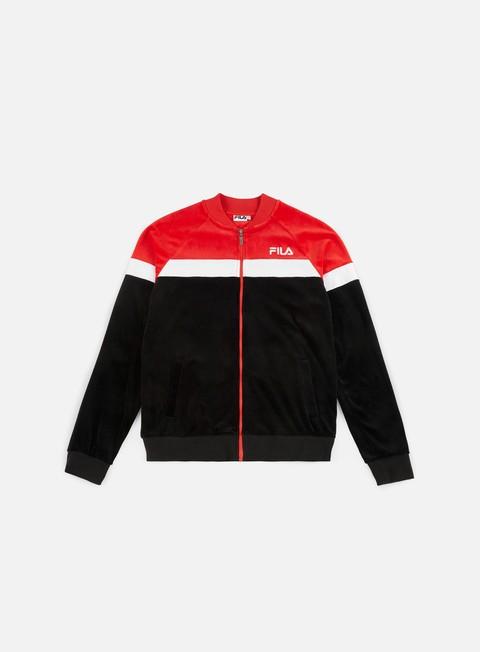Zip Sweatshirts Fila Kevin Velvet Track Jacket