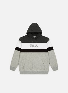 Fila - Larry Hoodie, Light Grey Melange/Black/White