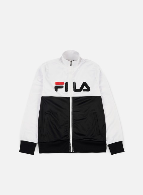 felpe fila logan track jacket bright white black