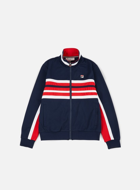 felpe fila monti track jacket peacoat red white