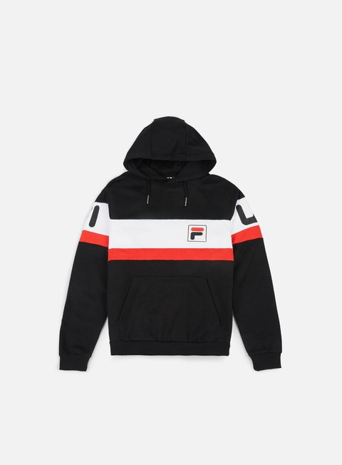 felpe fila nick hoody black bright white