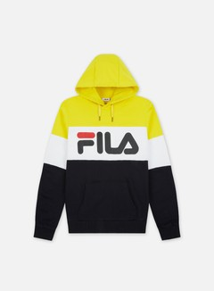 Fila - Night Blocked Hoodie, Black/Empire Yellow/Bright White