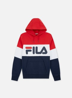 Fila - Night Blocked Hoodie, Black Iris/True Red/Bright White