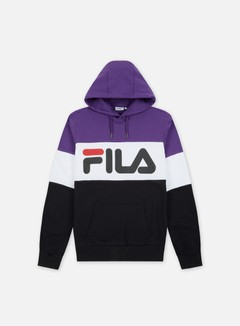 Fila - Night Blocked Hoodie, Black/Tillandsia/Purple/Bright White