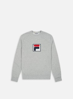 Fila - Rian 2 Crewneck, Light Grey Melange Bros