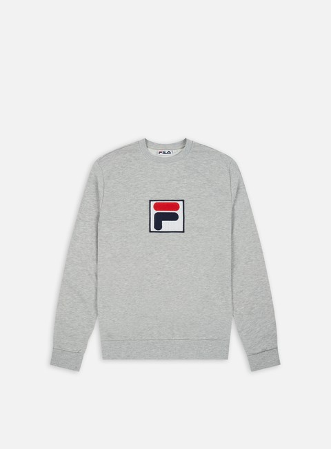 felpe fila rian 2 crewneck light grey melange bros