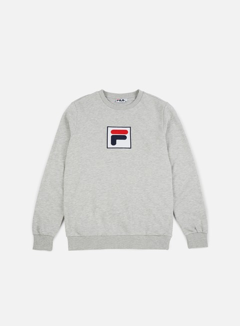felpe fila rian crewneck light grey melange