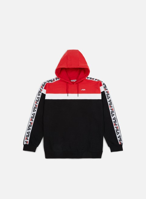 felpe fila robben tape hoodie true red bright white black