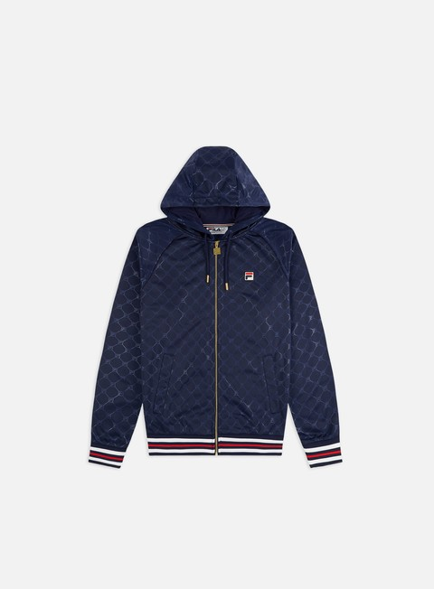 Outlet e Saldi Felpe con Cappuccio Fila Royce Embossed Zip Through Jacket