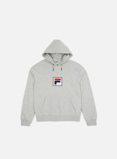 felpe fila shawn hoodie light grey melange