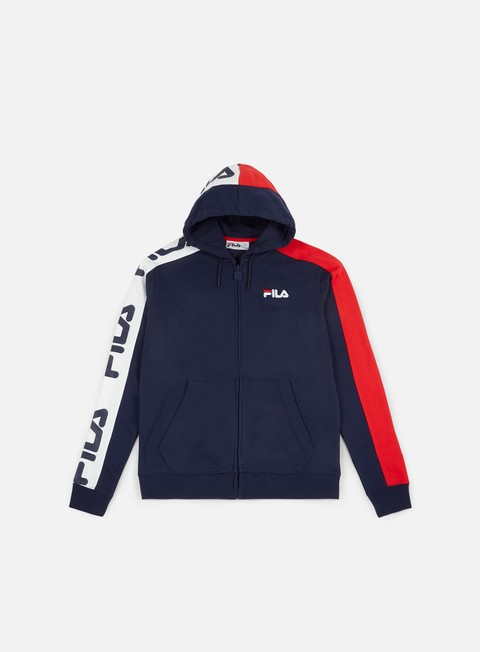 felpe fila stan cut and sew hoodie peacoat