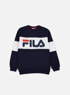 Fila - Straight Blocked Crewneck, Black Iris