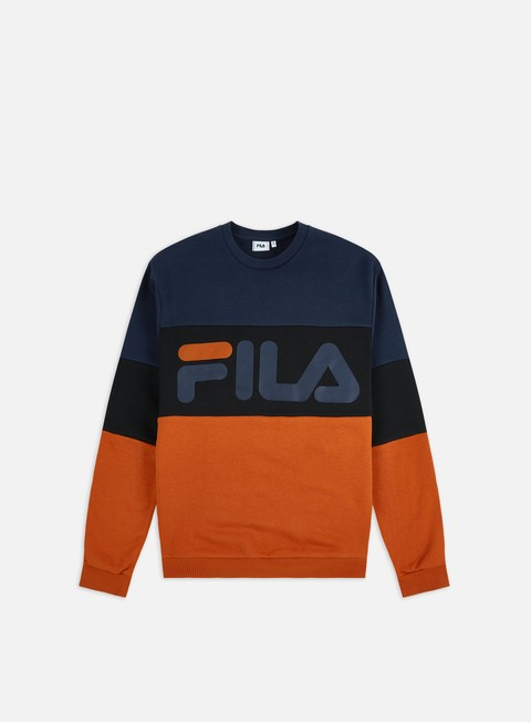 Sale Outlet Crewneck Sweatshirts Fila Straight Blocked Crewneck