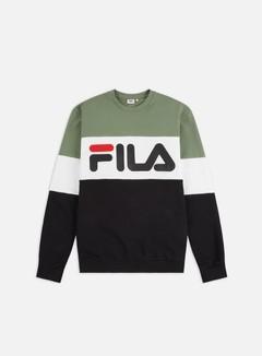Fila - Straight Blocked Crewneck, Sea Spray/Black/Bright White