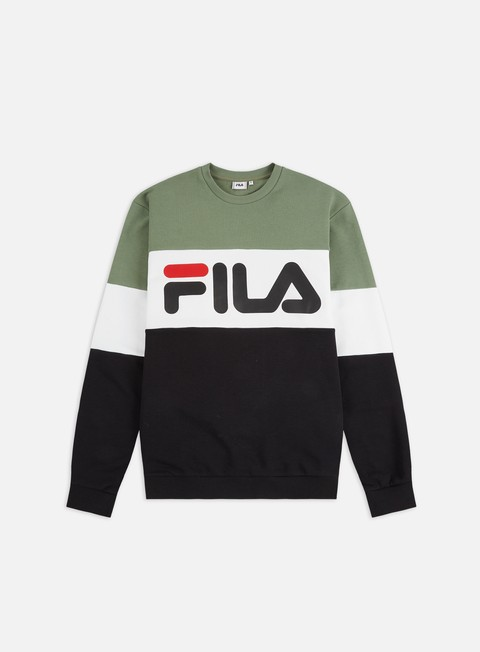 Outlet e Saldi Felpe Girocollo Fila Straight Blocked Crewneck