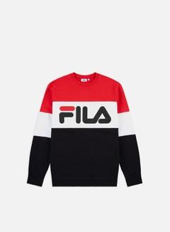 Fila - Straight Blocked Crewneck, True Red/Black/Bright White