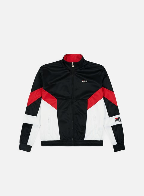 felpe fila talbot track jacket true red bright white black