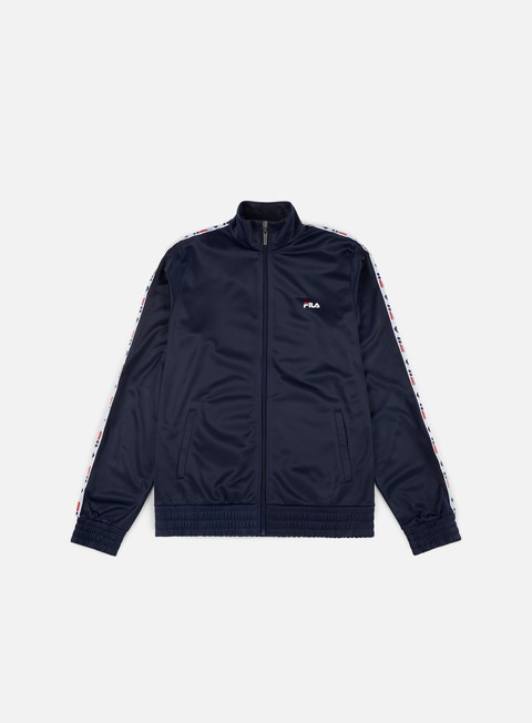 felpe fila tape track jacket peacoat