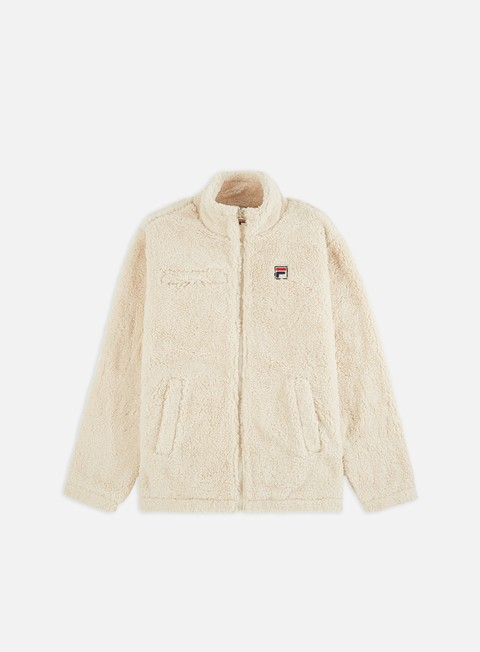 Sweaters and Fleeces Fila Teddy High Funnel Neck Sherpa Jacket
