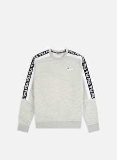 Fila - Teom Crewneck, Light Grey Melange Bros/Bright White
