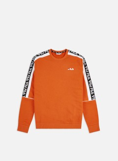 Fila - Teom Crewneck, Mandarin Orange/Bright White