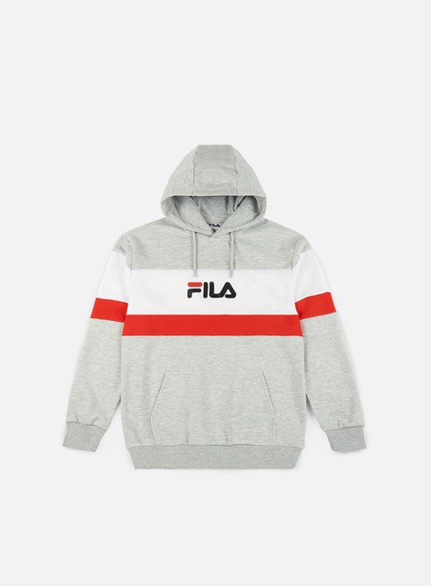 felpe fila thomas hoodie light grey melange