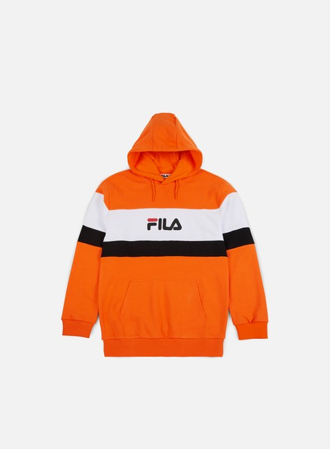 felpe fila thomas hoodie persimmon orange