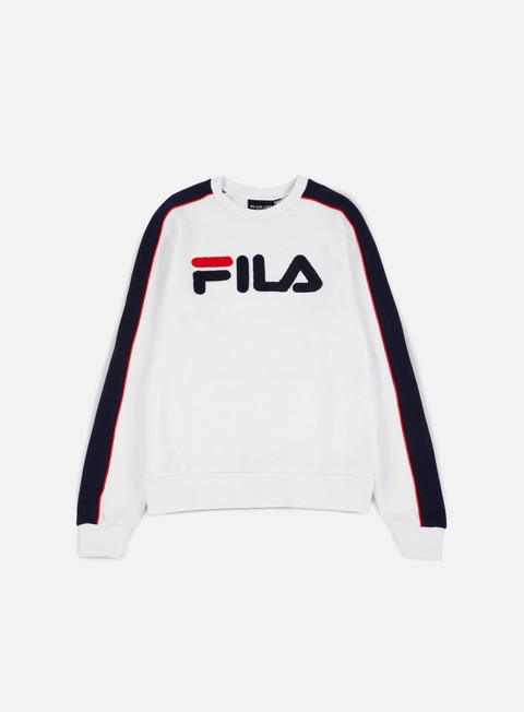 felpe fila toby fashion crewneck white