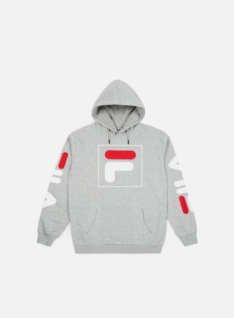 felpe fila total 20 hoodie light grey melange bros