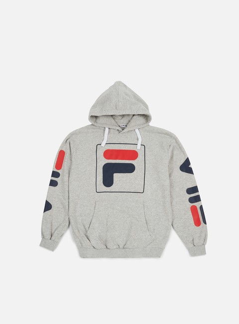 felpe fila total hoodie light grey melange
