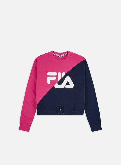 Sale Outlet Crewneck Sweatshirts Fila WMNS Banji Cropped Crewneck