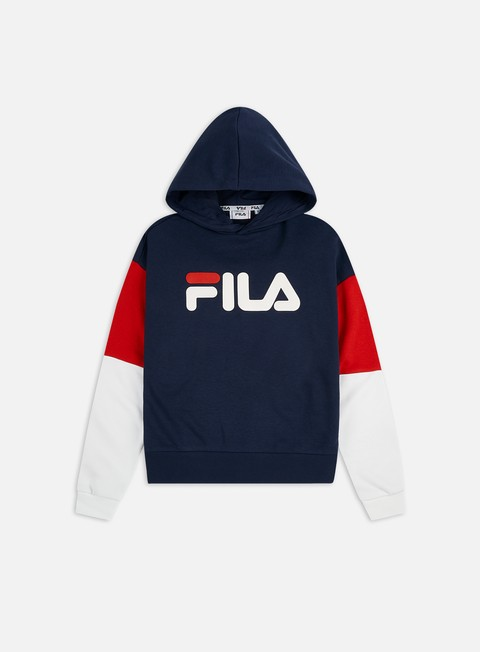 Hooded Sweatshirts Fila WMNS Barret Cropped Hoodie