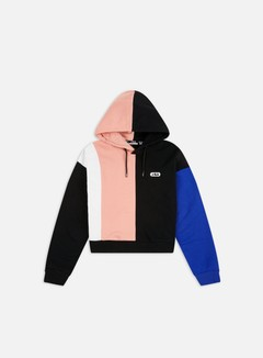 Fila - WMNS Bayou Blocked Hoodie, Black/Bright White/Coral Cloud/Dazzling Blue