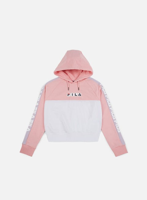 felpe fila wmns chelsea hoodie coral blush bright white