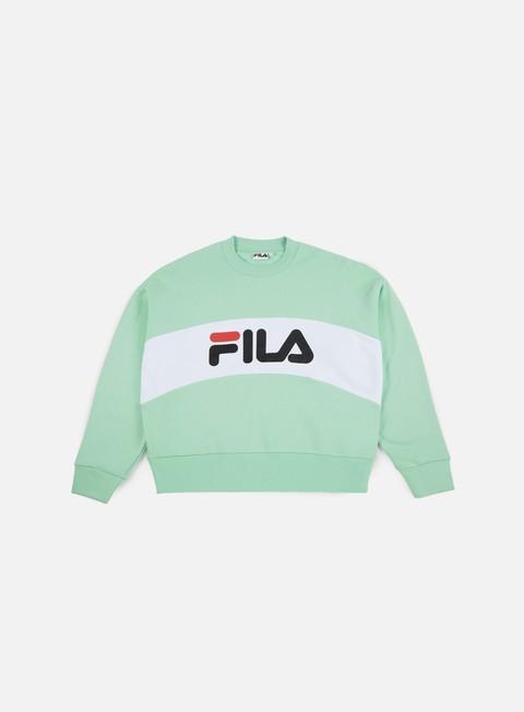 felpe fila wmns leah crewneck liche bright white