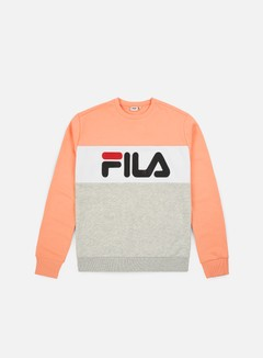 Fila - WMNS Leah Crewneck, Light Grey Melange Bros/Salmon/Bright White