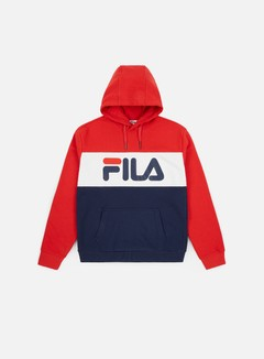 Fila - WMNS Lori Hoodie, Black Iris/True Red/Bright White
