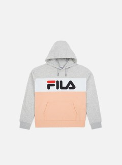 Fila - WMNS Lori Hoodie, Light Grey Melange Bros/Salmon/Bright White